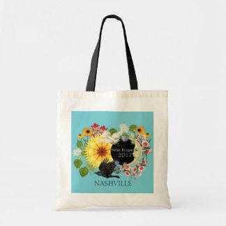 Solar Eclipse Classic Tote Bag/ Turq/ Customizable