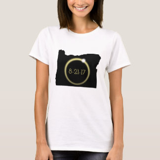 Solar Eclipse Corona Oregon Silhouette T-Shirt