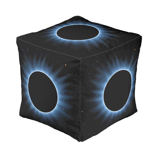 Solar Eclipse Cube Pouf
