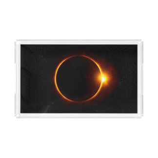 Solar Eclipse Dark Sun & Moon Acrylic Tray