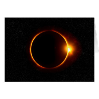 Solar Eclipse Dark Sun & Moon Card