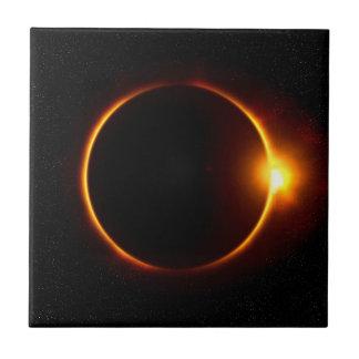 Solar Eclipse Dark Sun & Moon Ceramic Tile