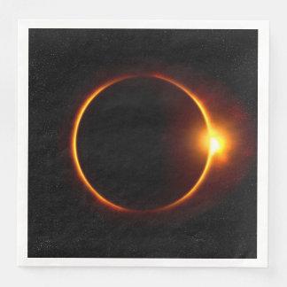 Solar Eclipse Dark Sun & Moon Paper Serviettes