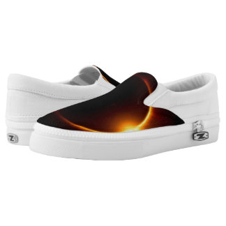 Solar Eclipse Dark Sun & Moon Slip-On Shoes