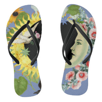 Solar Eclipse Flip-Flops Thongs