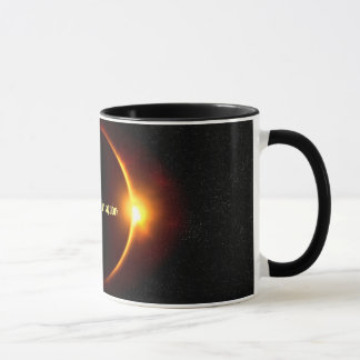 Solar Eclipse in action Black 11 oz Combo Mug
