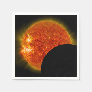 Solar Eclipse in Progress Paper Napkin