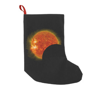 Solar Eclipse in Progress Small Christmas Stocking