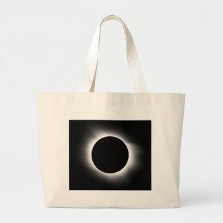 Solar eclipse large tote bag