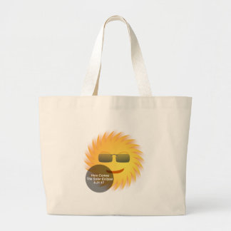 Solar Eclipse Large Tote Bag
