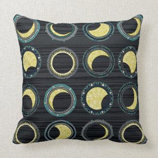 solar eclipse mandala throw pillow