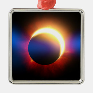 Solar Eclipse Metal Ornament