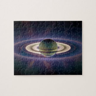 Solar Eclipse Of Saturn from Cassini Spacecraft Jigsaw Puzzle