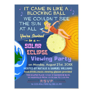 Solar Eclipse Party Funny Retro Sun Viewing 2017 Magnetic Card