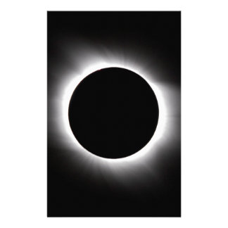 Solar eclipse personalised stationery
