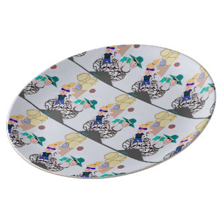 """Solar Eclipse"" Porcelain Plate  by MAR"