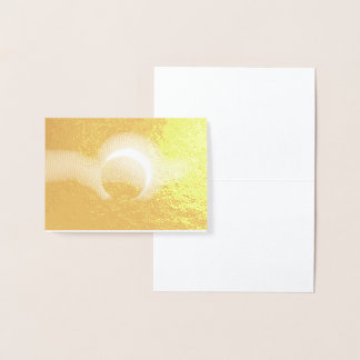 Solar Eclipse Real Metallic Gold Foil Print Foil Card