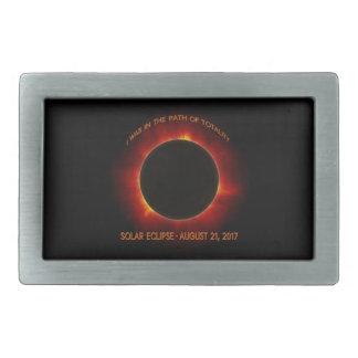 Solar Eclipse Rectangular Belt Buckle
