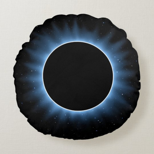 Solar Eclipse Round Pillow