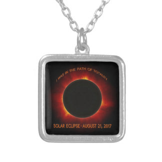 Solar Eclipse Silver Plated Necklace