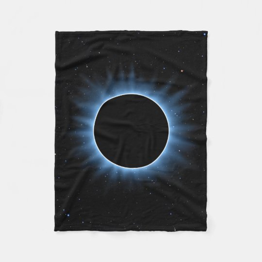Solar Eclipse Small Fleece Blanket