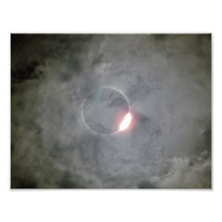 Solar Eclipse Through Clouds Photo Print