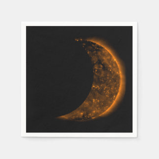 Solar Eclipse Transit Paper Napkin