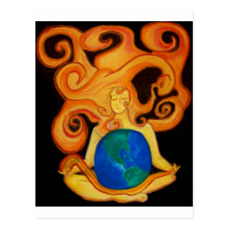Solar Energy and Mother Earth Postcard