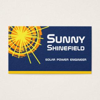 Solar Energy Engineer customizable Business Card
