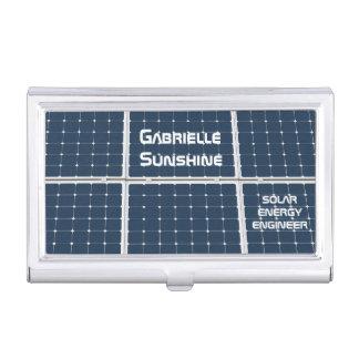 Solar Energy Engineer customizable Business Card Holder