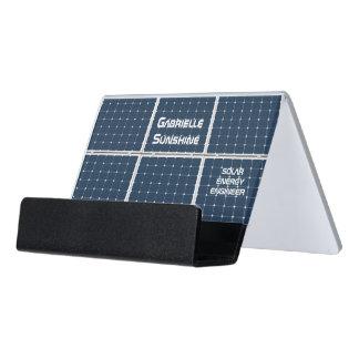 Solar Energy Engineer Desk Business Card Holder