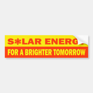 Solar Energy For A Brighter Tomorrow Bumper Sticker