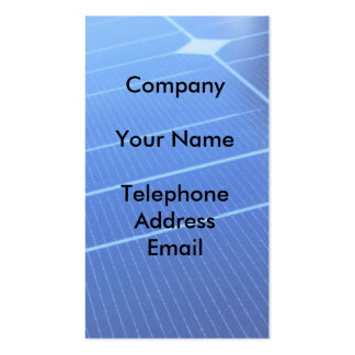Solar Energy Pack Of Standard Business Cards