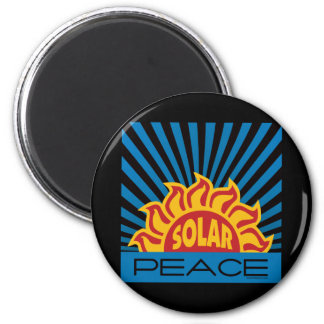 Solar Energy, Peace 6 Cm Round Magnet