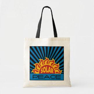 Solar Energy, Peace Budget Tote Bag