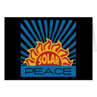 Solar Energy, Peace Greeting Card