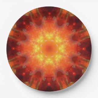Solar Energy Portal Mandala 9 Inch Paper Plate