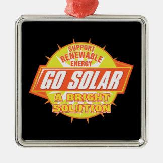 Solar Energy Solution Metal Ornament