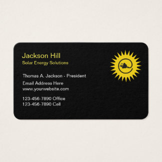 Solar Energy Solutions Business Card
