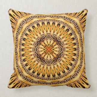 Solar Expansion Mandala Throw Pillow