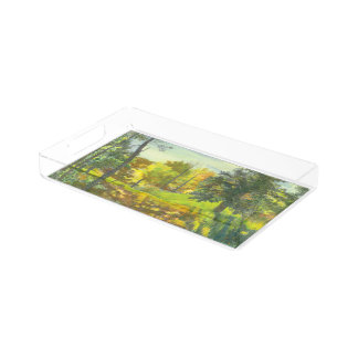 Solar fall acrylic tray