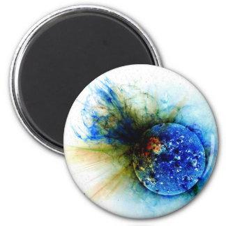 solar flare 6 cm round magnet
