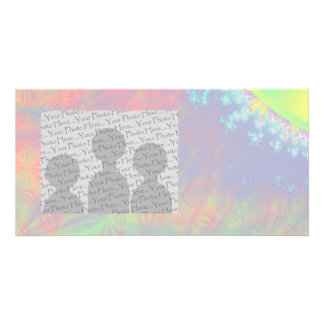 Solar Flare Fractal. Colorful Abstract. Picture Card