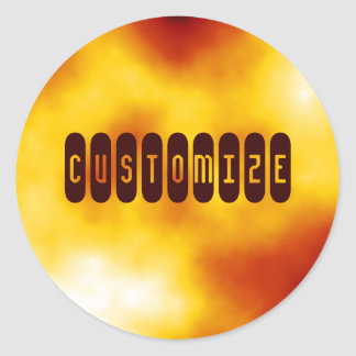 Solar Flare II  - Template Classic Round Sticker