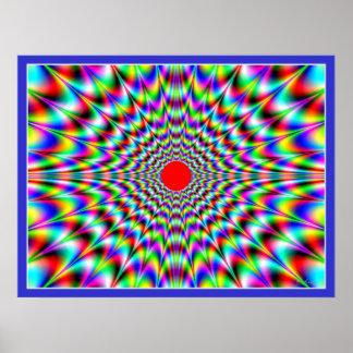 Solar Flare Optical Illusion Print