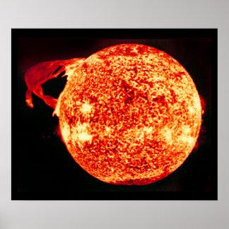Solar Flare - Photo Taken From Skylab Poster