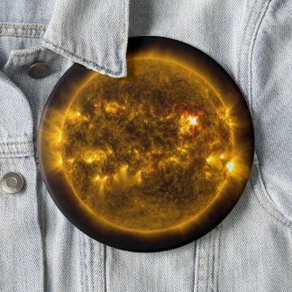 Solar Flares on the Sun Outer Space Jumbo 6 Cm Round Badge