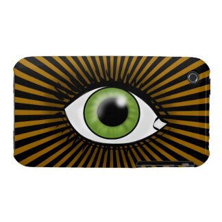 Solar Green Eye iPhone 3 Case-Mate Cases