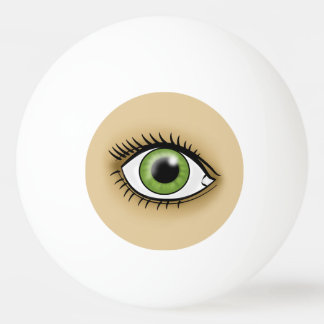 Solar Green Eye Ping Pong Ball