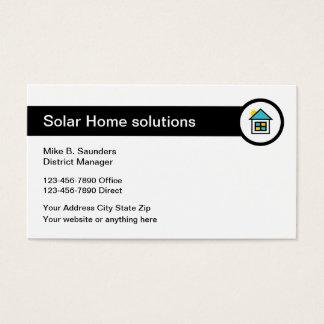 Solar Home Energy Business Card